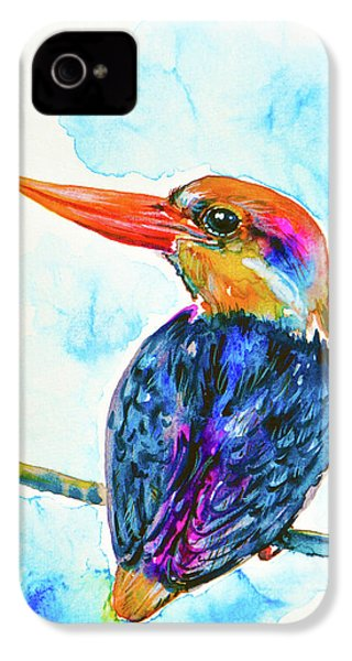 Oriental Dwarf Kingfisher IPhone 4s Case by Zaira Dzhaubaeva