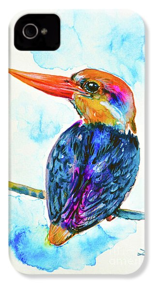 Oriental Dwarf Kingfisher IPhone 4s Case by Zaira Dzhaubaeva