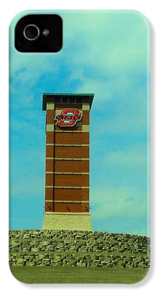 Oklahoma State University Gateway To Osu Tulsa Campus IPhone 4s Case by Janette Boyd