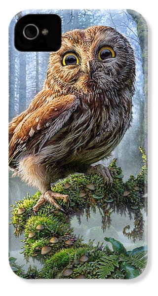 Owl Perch IPhone 4s Case by Phil Jaeger