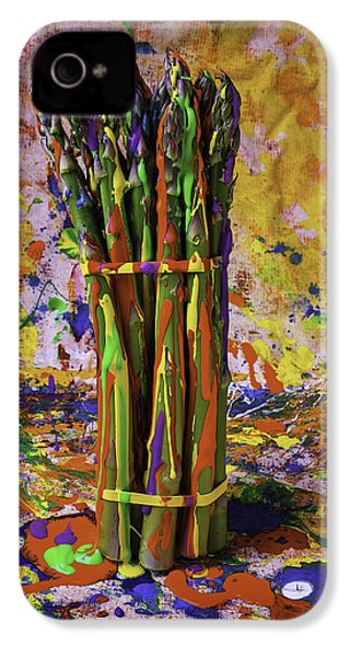 Painted Asparagus IPhone 4s Case by Garry Gay