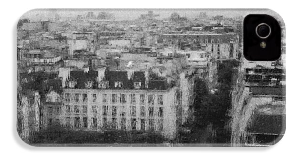 Paris In The Rain  IPhone 4s Case by Dubi Roman