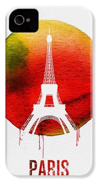Paris Landmark Red IPhone 4s Case by Naxart Studio