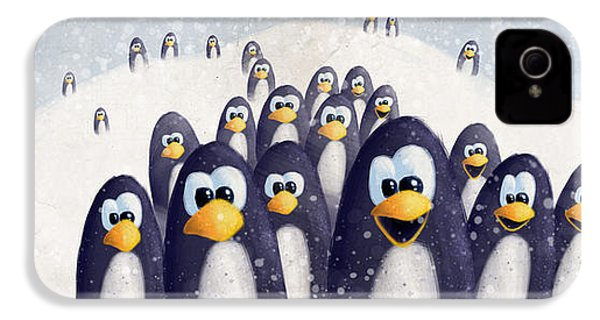 Penguin Winter IPhone 4s Case by David Breeding