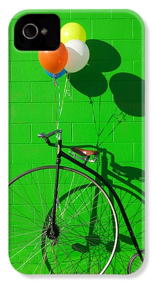 Penny Farthing Bike IPhone 4s Case by Garry Gay