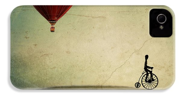 Penny Farthing For Your Thoughts IPhone 4s Case by Irene Suchocki