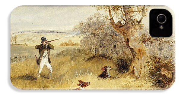 Pheasant Shooting IPhone 4s Case by Henry Thomas Alken