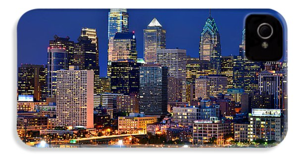 Philadelphia Skyline At Night IPhone 4s Case by Jon Holiday