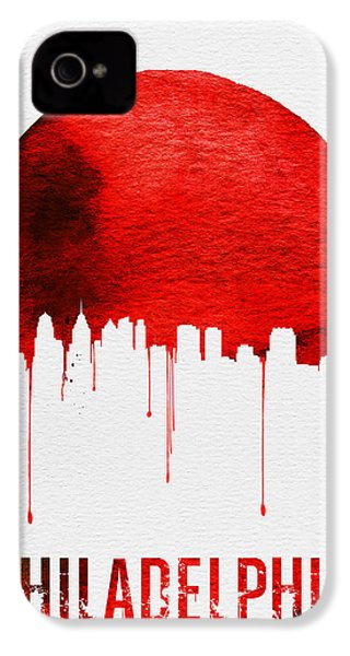 Philadelphia Skyline Redskyline Red IPhone 4s Case
