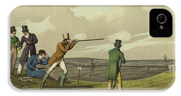 Pigeon Shooting IPhone 4s Case by Henry Thomas Alken