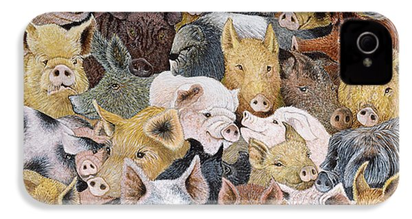 Pigs Galore IPhone 4s Case by Pat Scott