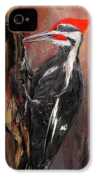 Pileated Woodpecker Art IPhone 4s Case