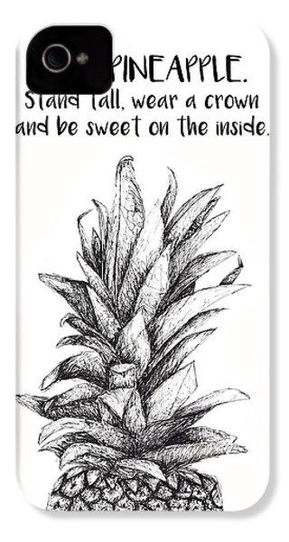 Pineapple IPhone 4s Case by Nancy Ingersoll