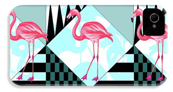 Ping Flamingo IPhone 4s Case by Mark Ashkenazi