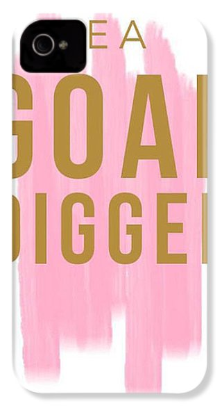 Pink Goal Digger IPhone 4s Case by Elizabeth Taylor