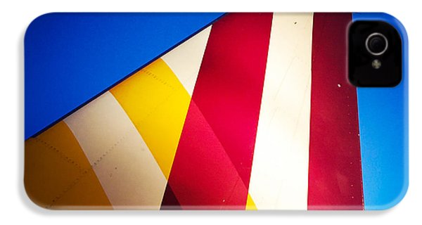 Plane Abstract Red Yellow Blue IPhone 4s Case