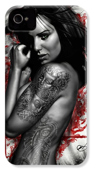 Plata O Plomo IPhone 4s Case by Pete Tapang