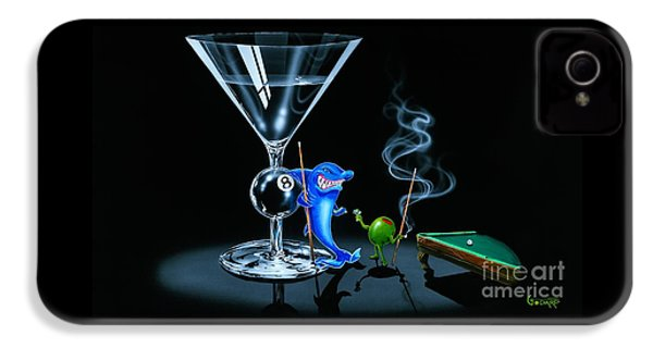 Pool Shark IPhone 4s Case by Michael Godard