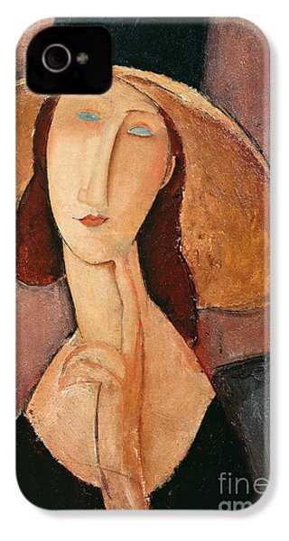 Portrait Of Jeanne Hebuterne In A Large Hat IPhone 4s Case