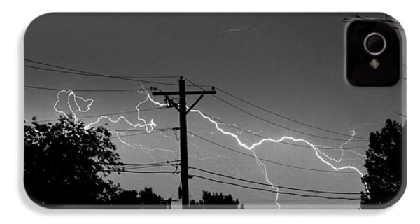 Power Lines Bw Fine Art Photo Print IPhone 4s Case by James BO  Insogna