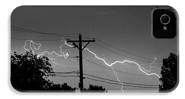 Power Lines Bw Fine Art Photo Print IPhone 4s Case