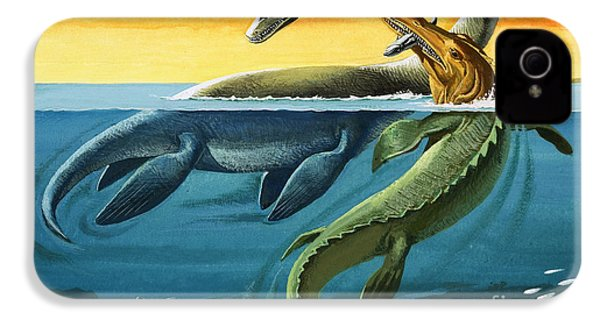 Prehistoric Creatures In The Ocean IPhone 4s Case by English School