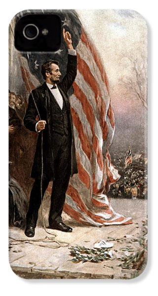 President Abraham Lincoln Giving A Speech IPhone 4s Case by War Is Hell Store