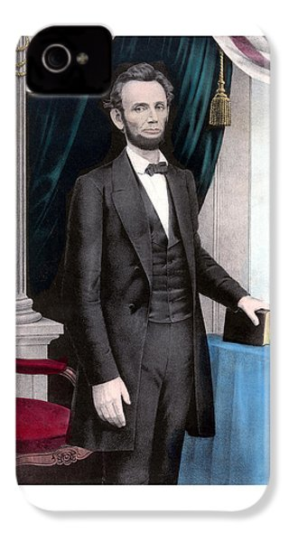 President Abraham Lincoln In Color IPhone 4s Case by War Is Hell Store