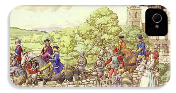 Prince Edward Riding From Ludlow To London IPhone 4s Case by Pat Nicolle