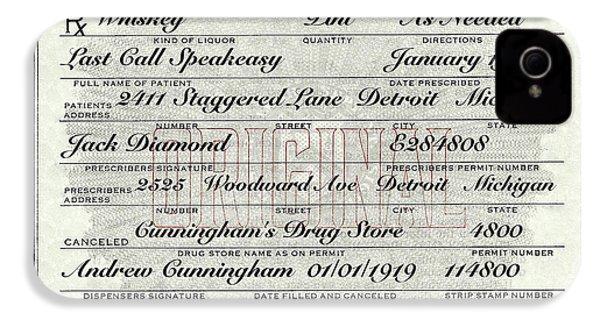 IPhone 4s Case featuring the photograph Prohibition Prescription Certificate Establishments by David Patterson