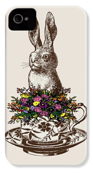 Rabbit In A Teacup IPhone 4s Case by Eclectic at HeART