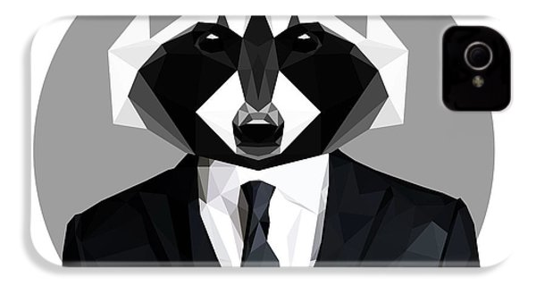 Raccoon IPhone 4s Case by Gallini Design