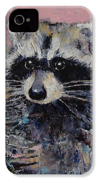 Raccoon IPhone 4s Case by Michael Creese