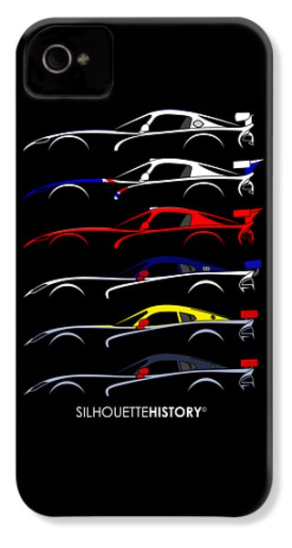 Racing Snake Silhouettehistory IPhone 4s Case by Gabor Vida