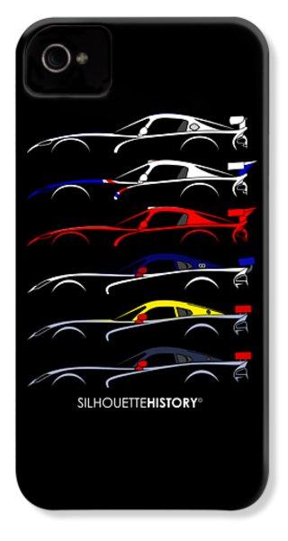 Racing Snake Silhouettehistory IPhone 4s Case by Gabor Vida
