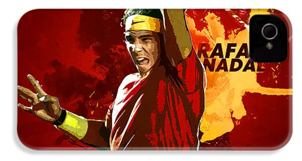 Rafael Nadal IPhone 4s Case by Semih Yurdabak