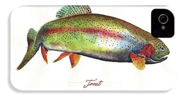 Rainbow Trout IPhone 4s Case by Juan Bosco