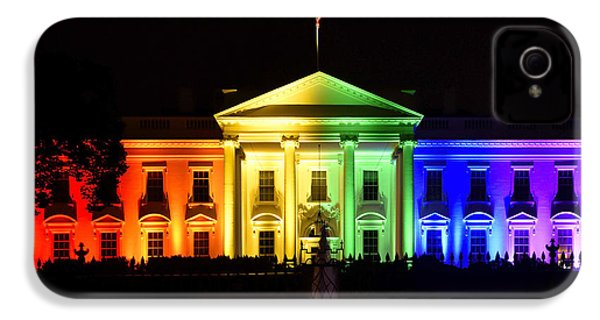 Rainbow White House  - Washington Dc IPhone 4s Case by Brendan Reals