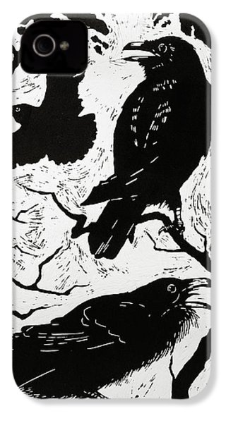 Ravens IPhone 4s Case by Nat Morley