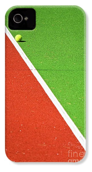 Red Green White Line And Tennis Ball IPhone 4s Case