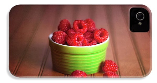 Red Raspberries Still Life IPhone 4s Case by Tom Mc Nemar