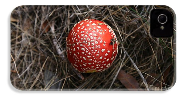 Red Spotty Toadstool IPhone 4s Case by Nareeta Martin