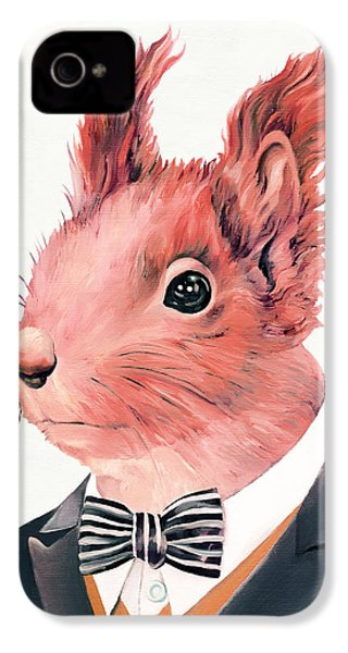 Red Squirrel IPhone 4s Case by Animal Crew