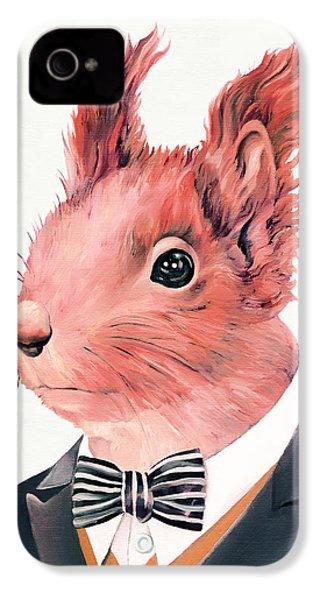 Red Squirrel IPhone 4s Case