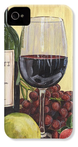 Red Wine And Pear 2 IPhone 4s Case by Debbie DeWitt