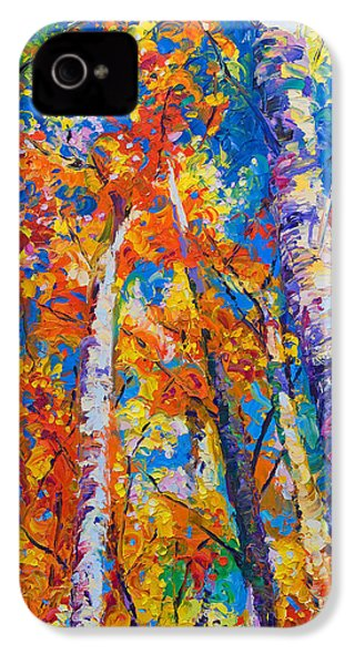 Redemption - Fall Birch And Aspen IPhone 4s Case