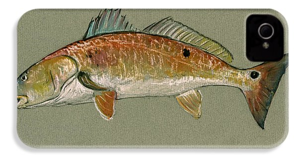 Redfish Watercolor Painting IPhone 4s Case by Juan  Bosco
