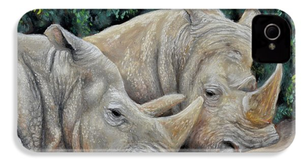 Rhinos IPhone 4s Case by Sam Davis Johnson