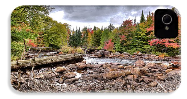 IPhone 4s Case featuring the photograph River Debris At Indian Rapids by David Patterson