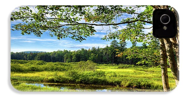IPhone 4s Case featuring the photograph River Under The Maple Tree by David Patterson